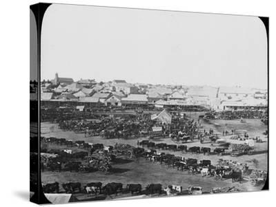 Morning Market, Kimberley, South Africa, C1890--Stretched Canvas Print