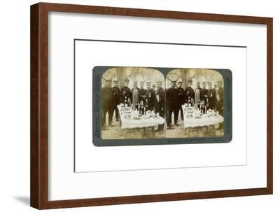 Lunch with General Nogi at Japanese Headquarters, Port Arthur, Manchuria, 1904-Underwood & Underwood-Framed Giclee Print