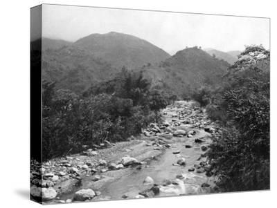 The Wag-River, Castleton, Jamaica, C1905-Adolphe & Son Duperly-Stretched Canvas Print
