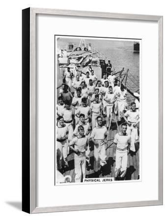 Physical Jerks, Exercise on Board HMS Devonshire, 1937--Framed Giclee Print