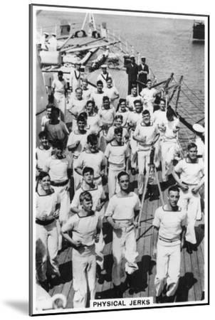Physical Jerks, Exercise on Board HMS Devonshire, 1937--Mounted Giclee Print
