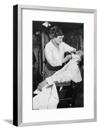 A Woman Barber, 1917--Framed Giclee Print