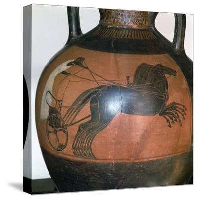 Greek Vase Depicting a Chariot, C5th-6th Century Bc--Stretched Canvas Print