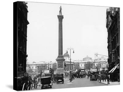 Nelson's Column, Trafalgar Square, London, 1920--Stretched Canvas Print