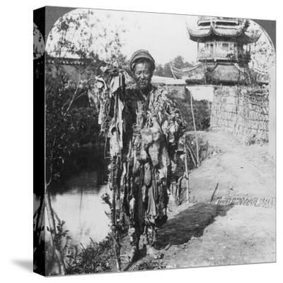 King of the Beggars, Loong Wah, China, Late 19th or Early 20th Century-Underwood & Underwood-Stretched Canvas Print