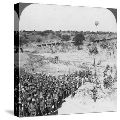 Lord Roberts' Infantry Crossing the Zand River, South Africa, C1900s-Underwood & Underwood-Stretched Canvas Print