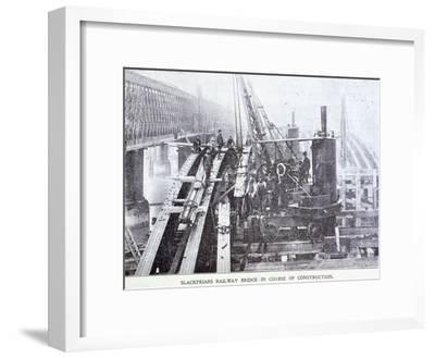 Blackfriars Bridge, London, C1864--Framed Giclee Print