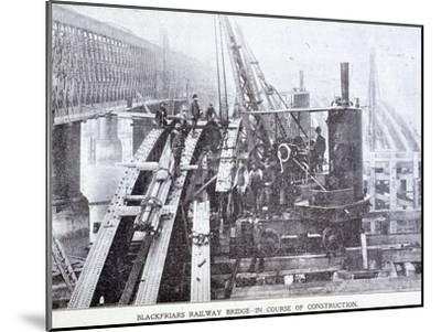 Blackfriars Bridge, London, C1864--Mounted Giclee Print