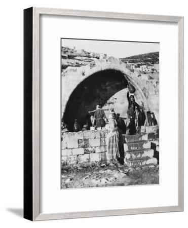 Fountain of the Virgin, Nazareth, Palestine, C1927-C1931--Framed Giclee Print
