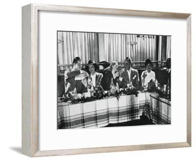 Opening of a Restaurant by Popular French Singers, Paris, September 1941--Framed Giclee Print
