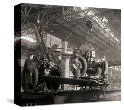 Gun Production in Wartime, USSR, World War II, C1941-C1943--Stretched Canvas Print