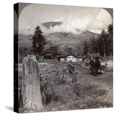Mount Asama (Asamayam), Japan's Largest Active Volcano, Northwest from Katsukake, 1904-Underwood & Underwood-Stretched Canvas Print