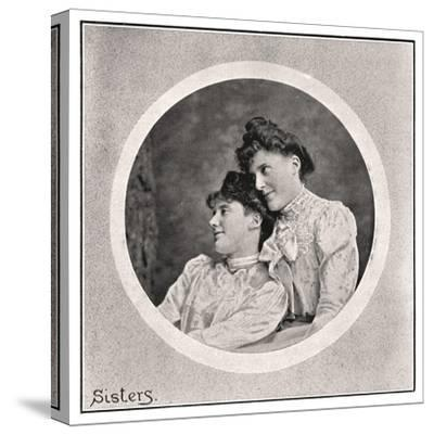 Sisters, 1901- Frederick & Sons Downer-Stretched Canvas Print