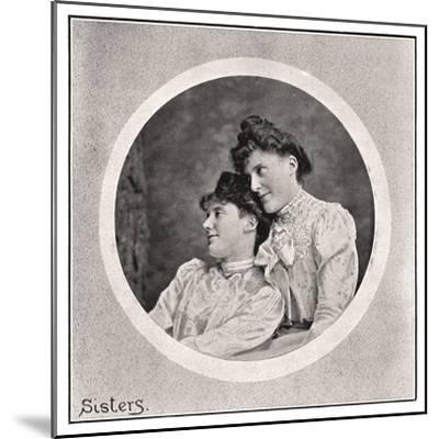 Sisters, 1901- Frederick & Sons Downer-Mounted Giclee Print