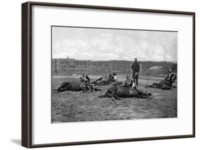 A Party of the 4th (Queen's Ow) Hussars Skirmishing Dismounted, 1896-Gregory & Co-Framed Giclee Print
