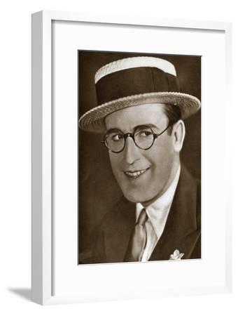 Harold Lloyd, American Actor and Film Maker, 1933--Framed Giclee Print