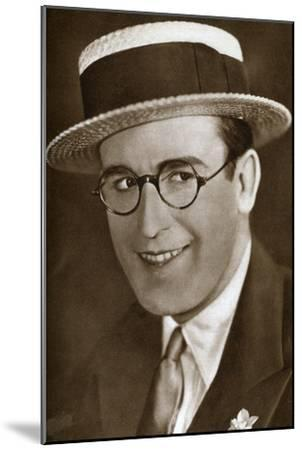 Harold Lloyd, American Actor and Film Maker, 1933--Mounted Giclee Print