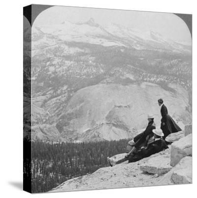 View from Clouds Rest over the Little Yosemite Valley to Mount Clark, California, USA, 1902-Underwood & Underwood-Stretched Canvas Print