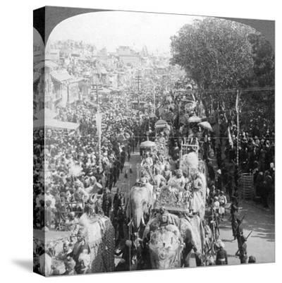 The Great Durbar Procession, Delhi, India, 1903-Underwood & Underwood-Stretched Canvas Print