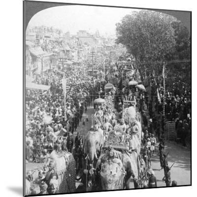 The Great Durbar Procession, Delhi, India, 1903-Underwood & Underwood-Mounted Giclee Print