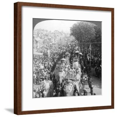 The Great Durbar Procession, Delhi, India, 1903-Underwood & Underwood-Framed Giclee Print