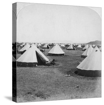 Military Camp at De Aar, South Africa, Boer War, 1900-Underwood & Underwood-Stretched Canvas Print