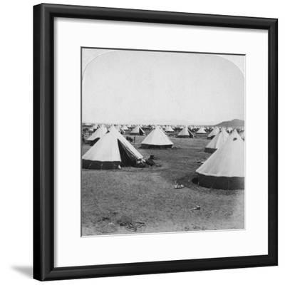 Military Camp at De Aar, South Africa, Boer War, 1900-Underwood & Underwood-Framed Giclee Print
