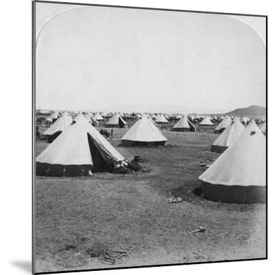 Military Camp at De Aar, South Africa, Boer War, 1900-Underwood & Underwood-Mounted Giclee Print