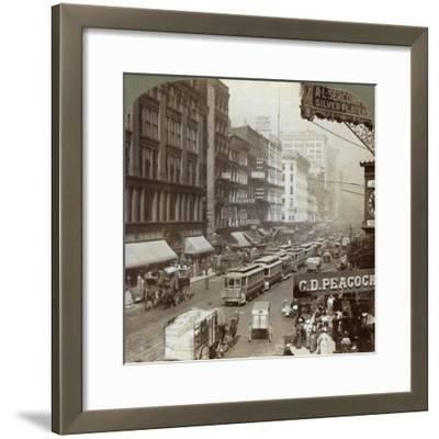 State Street, Chicago, Illinois, USA, 1908-Underwood & Underwood-Framed Giclee Print