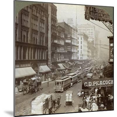 State Street, Chicago, Illinois, USA, 1908-Underwood & Underwood-Mounted Giclee Print