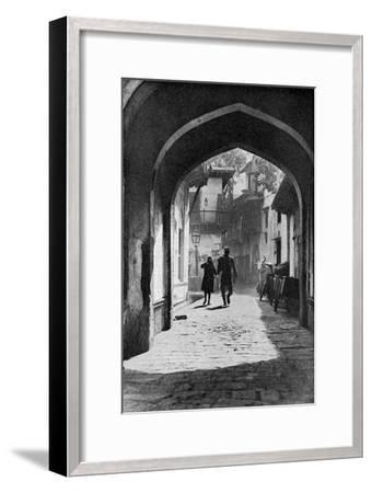 The Bazaar of Lucknow, India, C1930S--Framed Giclee Print