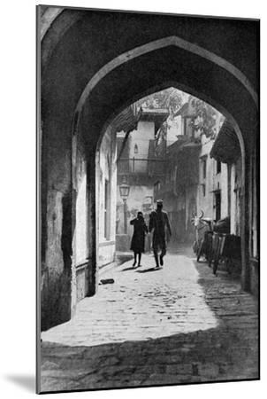 The Bazaar of Lucknow, India, C1930S--Mounted Giclee Print