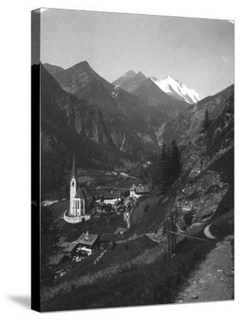 Heiligenblut and Grossglockner, Austria, C1900s-Wurthle & Sons-Stretched Canvas Print