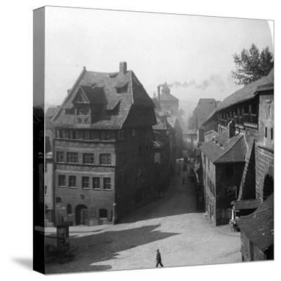 Albrecht Durer's House, Nuremberg, Germany, C1900-Wurthle & Sons-Stretched Canvas Print