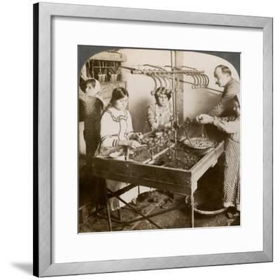 Manufacturing Silk, Syria, 1900s-Underwood & Underwood-Framed Giclee Print