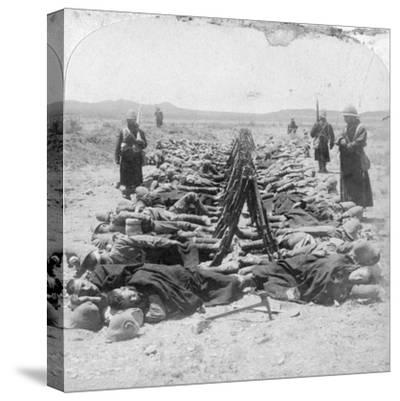 British Soldiers Sleeping, South Africa, 2nd Boer War, 30 December 1900-Underwood & Underwood-Stretched Canvas Print
