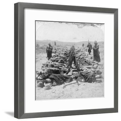 British Soldiers Sleeping, South Africa, 2nd Boer War, 30 December 1900-Underwood & Underwood-Framed Giclee Print