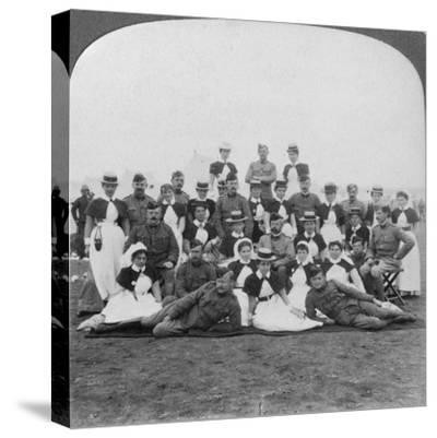 Medical Staff and Nurses of General Hospital No 9, Bloemfontein, South Africa, Boer War, 1901-Underwood & Underwood-Stretched Canvas Print