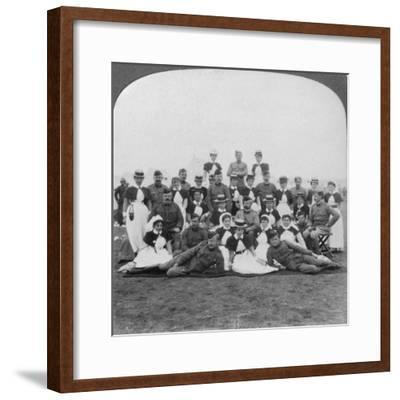 Medical Staff and Nurses of General Hospital No 9, Bloemfontein, South Africa, Boer War, 1901-Underwood & Underwood-Framed Giclee Print