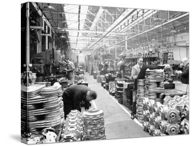 Machine Shop at Ariel Motors, C1950--Stretched Canvas Print