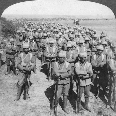 The Guards Brigade on the March to Kroonstadt, South Africa, Boer War, 1900-Underwood & Underwood-Framed Giclee Print
