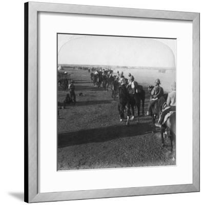 The 38th Battery at the Modder before Taking Part in Roberts' Advance, South Africa, Boer War, 1900-Underwood & Underwood-Framed Giclee Print