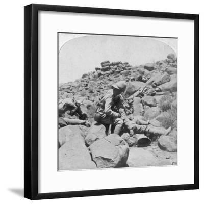 The Dying Bugler's Last Call, a Battlefield Incident, Gras Pan, South Africa, 1900-Underwood & Underwood-Framed Giclee Print