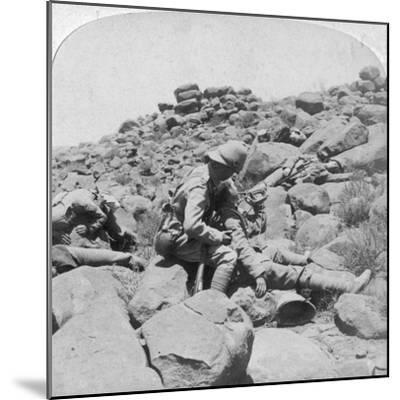 The Dying Bugler's Last Call, a Battlefield Incident, Gras Pan, South Africa, 1900-Underwood & Underwood-Mounted Giclee Print