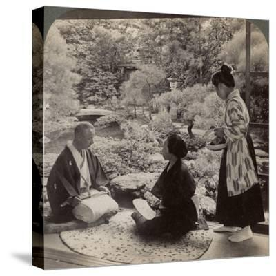 The Gardens of the Home of Mr Y Namikawa, Leader in the Art Industries, Kyoto, Japan, 1904-Underwood & Underwood-Stretched Canvas Print