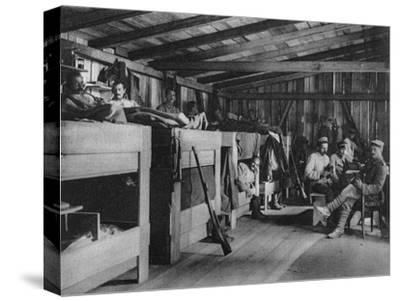 German Soldiers in a Reduit Shelter, Vosges, France, World War I, 1916--Stretched Canvas Print
