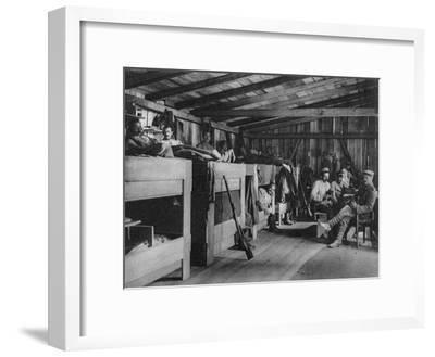 German Soldiers in a Reduit Shelter, Vosges, France, World War I, 1916--Framed Giclee Print