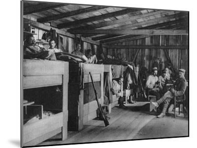German Soldiers in a Reduit Shelter, Vosges, France, World War I, 1916--Mounted Giclee Print
