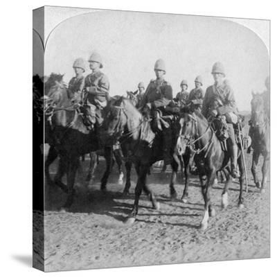 10th Hussars after Repulsing a Boer Attack, Colesberg, South Africa, 4th January 1900-Underwood & Underwood-Stretched Canvas Print