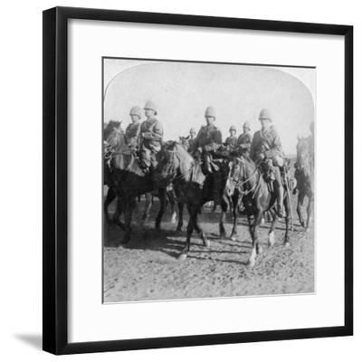 10th Hussars after Repulsing a Boer Attack, Colesberg, South Africa, 4th January 1900-Underwood & Underwood-Framed Giclee Print